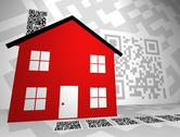 Real Estate Themed QR Codes concept design - alt version Stock Photos