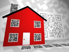 Stock Photo of Real Estate Themed QR Codes Concept Design