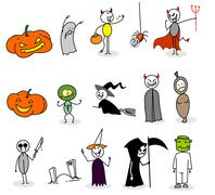 halloween set - stock illustration