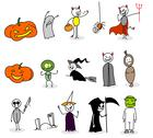 Stock Illustration of halloween set