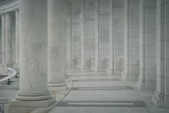 row of pillars and columns - stock photo