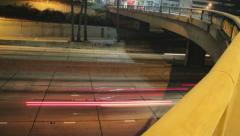 Freeway Overpass (Time lapse) Stock Footage
