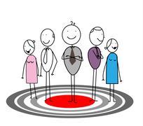 Team Work On Target Stock Illustration