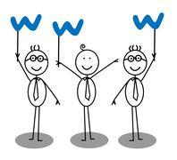 Internet Businessman Group Stock Illustration