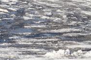Ice and Snow Slush Road Hazards Stock Photos