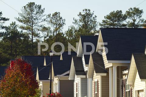 Stock photo of Typical Middle Class American Subdivision