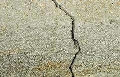 Large Concrete Foundation Crack - stock photo