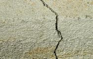 Stock Photo of Concrete Foundation Crack