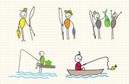 Stock Illustration of fisherman