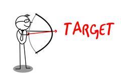 Archery Businessman Target text Stock Illustration