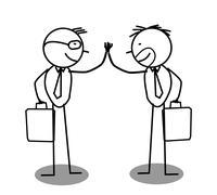 Businessman Agreement Stock Illustration