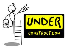 Under Construction people - stock illustration