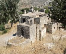Stock Photo of old cloister at preveli in crete