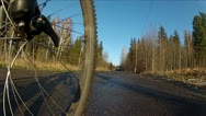 Riding a bicycle Stock Footage