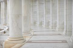 Row of pillars and columns Stock Photos