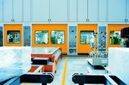 The car shell production line Stock Photos