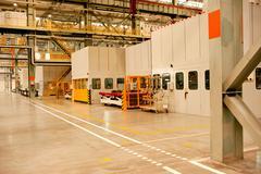 automotive sheet metal processing plant - stock photo