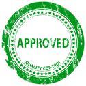Approved grunge stamp Stock Illustration
