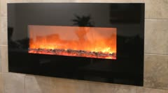 Fireplace background Stock Footage