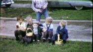 Stock Video Footage of BOY GANG EASTER MAFIA Baskets Hunt 1960s (Vintage Retro Film Home Movie) 5501