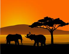 Africa background - stock illustration