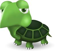 Green turtle cartoon Stock Illustration