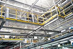 Automobile assembly shop Stock Photos