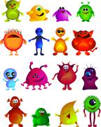Cute little monster Stock Illustration