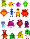 Stock Illustration of cute little monster