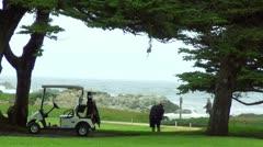Pebble Beach golf V2 - HD Stock Footage