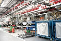 automobile assembly shop - stock photo