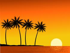 Tropical beach background Stock Illustration