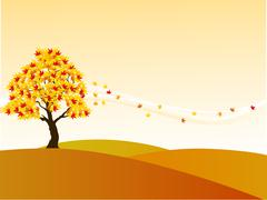 Autumn tree background Stock Illustration