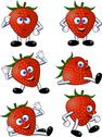 Stock Illustration of Strawberry cartoon character
