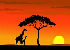 Africa background - stock illustration