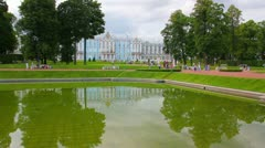 Catherine Palace in Pushkin, St. Petersburg Stock Footage