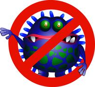 Anti virus symbol Stock Illustration