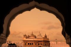 the golden temple of amritsar - stock photo