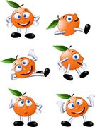 Orange cartoon Stock Illustration