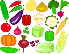 Vegetable collection Stock Illustration