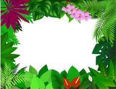 Tropical plant background Stock Illustration
