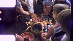 CHILDREN COUNT EASTER EGGS BOOTY 1960s (Vintage Retro Film Home Movie) 5504 Stock Footage