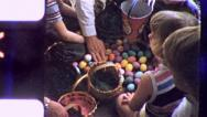 Stock Video Footage of CHILDREN COUNT EASTER EGGS BOOTY 1960s (Vintage Retro Film Home Movie) 5504