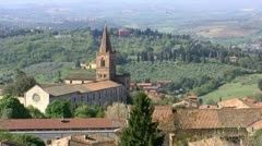 Perugia landscape Stock Footage