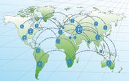 Stock Illustration of internet networks in the world