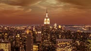 New York City at Sunset Stock Footage