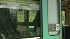 Disembarking a train Stock Footage