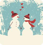 Christmas love Stock Illustration