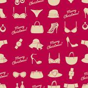 fashion christmas background - stock illustration
