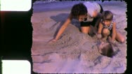 Stock Video Footage of MOTHER BURIES Son Beach 1960 (Vintage Amateur Film Home Movie) 5512